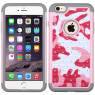 TotalDefense Diamond Hybrid Case for iPhone 6 Plus / 6S Plus - Camouflage Pink