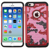 TotalDefense Diamond Hybrid Case for iPhone 6 / 6S - Camouflage Red