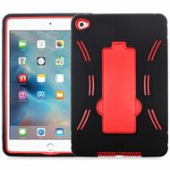 Explorer Impact Hybrid Armor Kickstand Case for iPad Mini 4 - Black Red