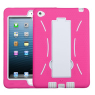 Explorer Impact Hybrid Armor Kickstand Case for iPad Mini 4 - Hot Pink White