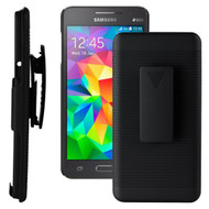 Armor Shell Case with Holster Combo for Samsung Galaxy Core Prime / Prevail LTE - Black