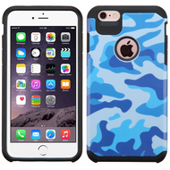Hybrid Multi-Layer Armor Case for iPhone 6 Plus / 6S Plus - Camouflage Blue