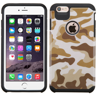 Hybrid Multi-Layer Armor Case for iPhone 6 Plus / 6S Plus - Camouflage Brown