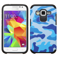 Hybrid Multi-Layer Armor Case for Samsung Galaxy Core Prime / Prevail LTE - Camouflage Blue