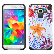 Hybrid Multi-Layer Armor Case for Samsung Galaxy Grand Prime - Flower Bubble