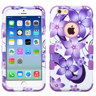 *SALE* Military Grade Certified TUFF Image Hybrid Case for iPhone 6 / 6S - Hibiscus Flower Romance Purple