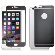 Premium Round Edge Tempered Glass Screen Protector for iPhone 6 Plus / 6S Plus - Black Front & Back