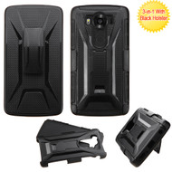 Tough Armor Hybrid Kickstand Case with Holster for LG V10 - Black