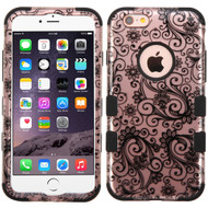 *SALE* Military Grade Certified TUFF Image Hybrid Case for iPhone 6 Plus / 6S Plus - Leaf Clover Rose Gold