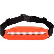 Extreme Sports Waist Pack Pocket Belt with LED Lights - Orange