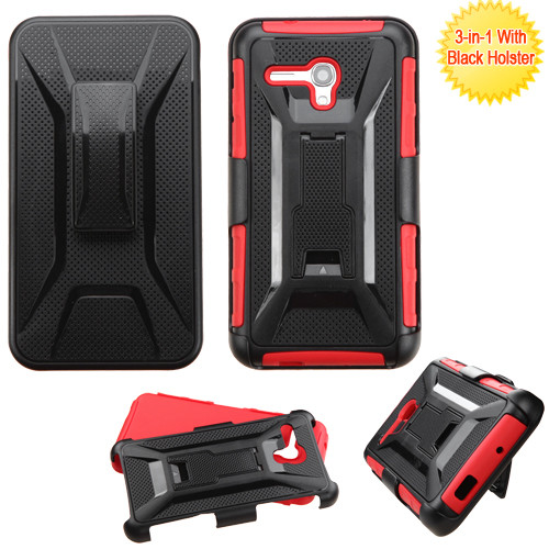 Tough Armor Hybrid Kickstand Case With Holster For Alcatel