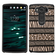 Hybrid Multi-Layer Armor Case for LG V10 - Leopard Zebra