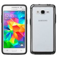 Bumper Frame Transparent Hybrid Case for Samsung Galaxy Grand Prime - Black