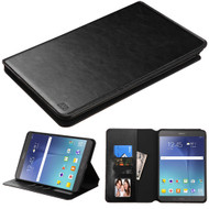 Book-Style Leather Folio Case for Samsung Galaxy Tab A 8.0 - Black