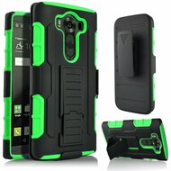*SALE* Robust Armor Stand Protector Cover with Holster for LG V10 - Black Green