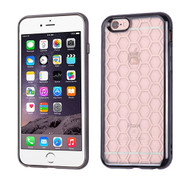 Honeycomb Electroplated Premium Candy Skin Cover for iPhone 6 Plus / 6S Plus - Gunmetal