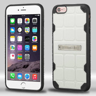 DefyR Hybrid Case with Stand for iPhone 6 Plus / 6S Plus - Square White