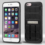 DefyR Hybrid Case with Stand for iPhone 6 Plus / 6S Plus - Square Black