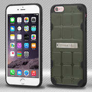DefyR Hybrid Case with Stand for iPhone 6 Plus / 6S Plus - Square Moss
