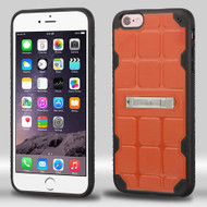 DefyR Hybrid Case with Stand for iPhone 6 Plus / 6S Plus - Square Orange