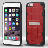 DefyR Hybrid Case with Stand for iPhone 6 Plus / 6S Plus - Square Red