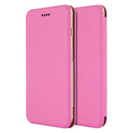 Splendid Series Leather Hard Cover Flip Case for iPhone 6 Plus / 6S Plus - Hot Pink