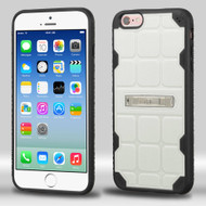 DefyR Hybrid Case with Stand for iPhone 6 / 6S - Square White