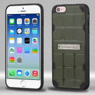 DefyR Hybrid Case with Stand for iPhone 6 / 6S - Square Moss