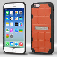 DefyR Hybrid Case with Stand for iPhone 6 / 6S - Square Orange