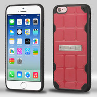 DefyR Hybrid Case with Stand for iPhone 6 / 6S - Square Pink