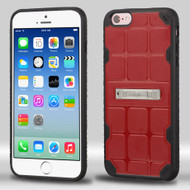 DefyR Hybrid Case with Stand for iPhone 6 / 6S - Square Red