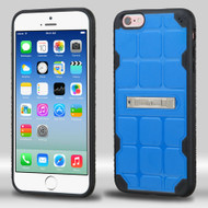 DefyR Hybrid Case with Stand for iPhone 6 / 6S - Square Blue