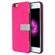 Moderne Series Hybrid Case with Card Holder and Stand for iPhone 6 / 6S - Hot Pink