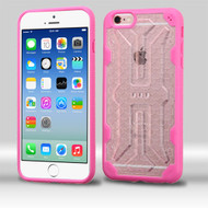 DefyR Hybrid Case for iPhone 6 / 6S - Clear Hot Pink