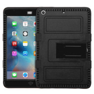 Military Grade Certified TUFF Hybrid Armor Case with Stand for iPad Mini - Black