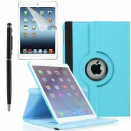 360 Degree Smart Rotating Leather Case Accessory Bundle for iPad Mini 4 - Baby Blue