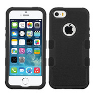 Military Grade Certified TUFF Hybrid Case for iPhone SE / 5S / 5 - Black