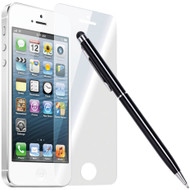 HD Premium Round Edge Tempered Glass Screen Protector + Stylus Pen for iPhone SE / 5S / 5C / 5