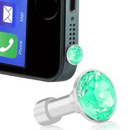 *SALE* Headphone Jack Dust Cap Pendant Jewelry - Teal