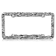 License Plate Frame - Zebra