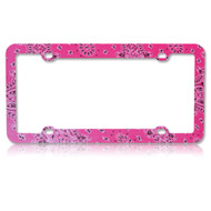 License Plate Frame - Persian Paisley