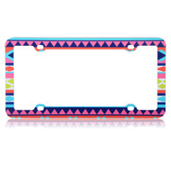 License Plate Frame - Aztec Tribal