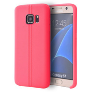 Slim Jacket TPU Case for Samsung Galaxy S7 - Hot Pink