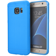 Perforated TPU Case for Samsung Galaxy S7 - Blue