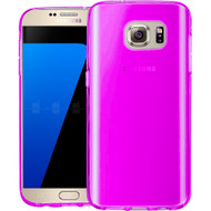 Rubberized Crystal Case for Samsung Galaxy S7 - Hot Pink