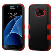 Military Grade Certified TUFF Hybrid Case for Samsung Galaxy S7 - Black Red