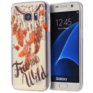 Graphic Rubberized Protective Gel Case for Samsung Galaxy S7 - Free and Wild