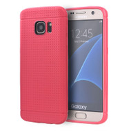 Perforated TPU Case for Samsung Galaxy S7 Edge - Hot Pink