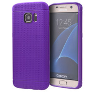 Perforated TPU Case for Samsung Galaxy S7 Edge - Purple