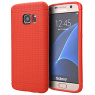 Perforated TPU Case for Samsung Galaxy S7 Edge - Red